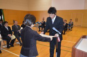 表彰される松浦課長